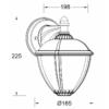 Kép 4/4 - Lutec UNITE kültéri fali lámpa 9W függő méretek