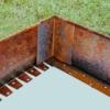 Kép 2/4 - Babaan COR-TEN® acél ágyásszegély 15 cm toldó sarok