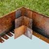 Kép 1/4 - Babaan COR-TEN® acél ágyásszegély 10 cm toldó sarok