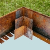 Kép 1/4 - Babaan COR-TEN® acél ágyásszegély 15 cm toldó sarok