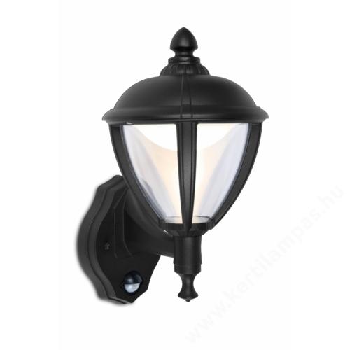 Lutec UNITE kültéri fali lámpa 9W álló falikar mozgásérzékelővel