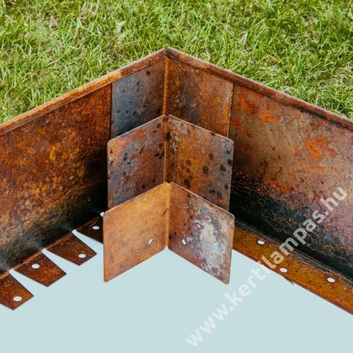 Babaan COR-TEN® acél ágyásszegély 15 cm toldó sarok