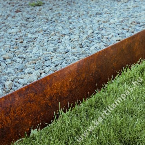 COR-TEN® acél ágyásszegély 20 cm merev
