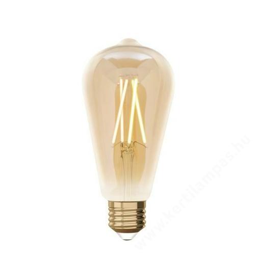 iDual Whites LED filament izzó ST64 E27 amber